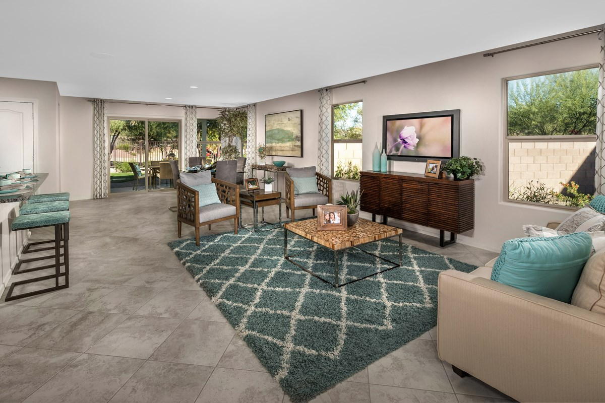 New Homes in Marana, AZ - KB Home at Gladden Farms Plan 1808 Great Room