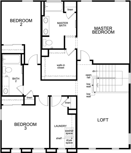 Plan 2248 new home floor plan in kb home at gladden for Tucson home builders floor plans