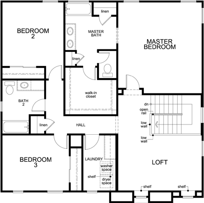 Plan 2268 new home floor plan in kb home at gladden for Tucson home builders floor plans
