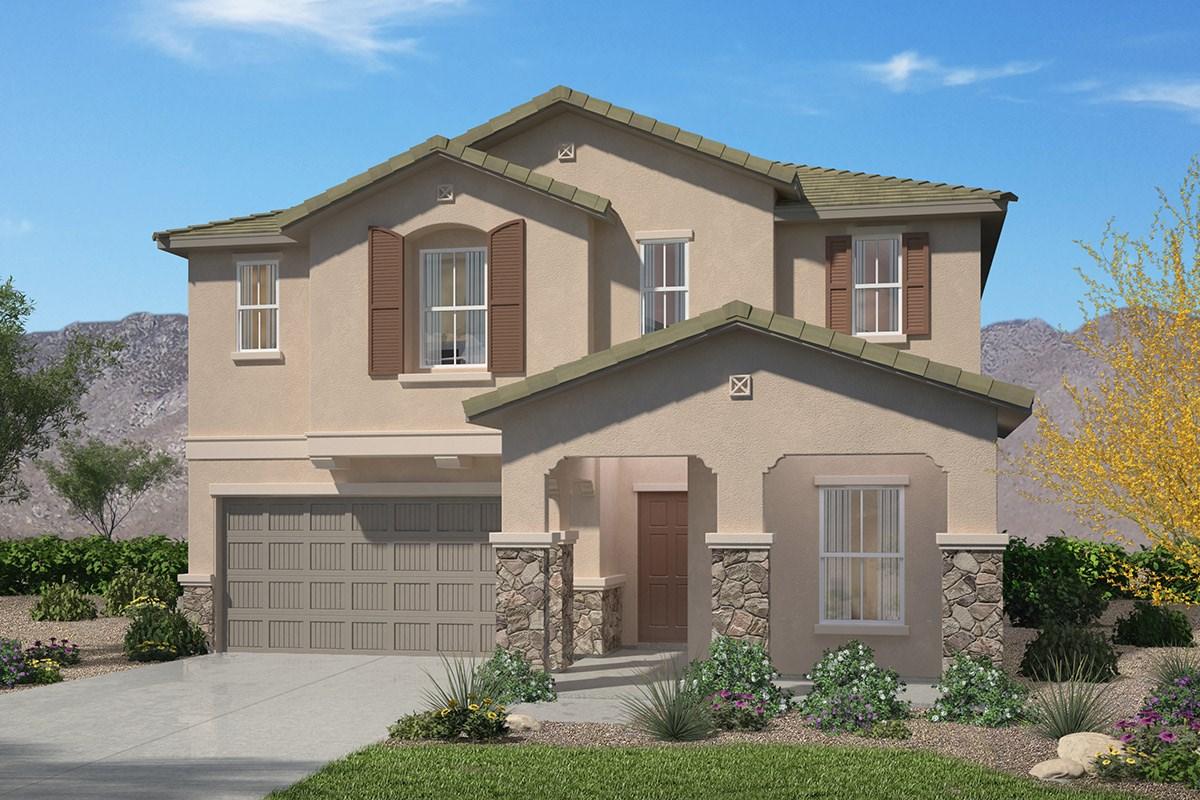 Plan 1786 at sonoran ranch ii in tucson az kb home for Tucson home builders floor plans