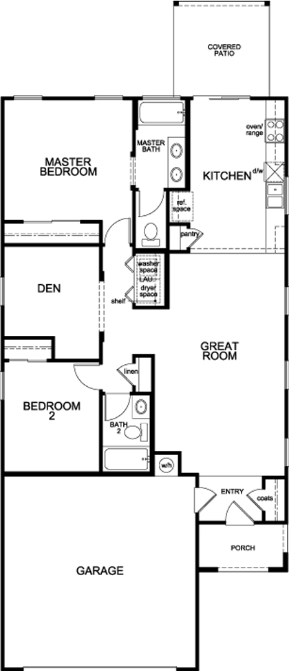 Plan 1231 new home floor plan in sonoran ranch ii by kb home for Tucson home builders floor plans