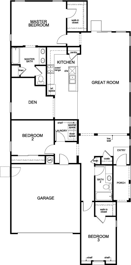 Plan 1849 modeled new home floor plan in sonoran ranch for Tucson home builders floor plans