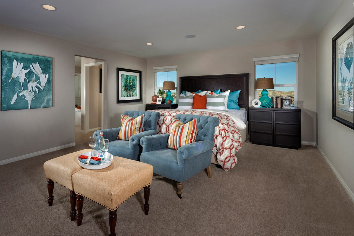 New Homes in Palmdale, CA - Crestview at Anaverde Residence One - Master Bedroom