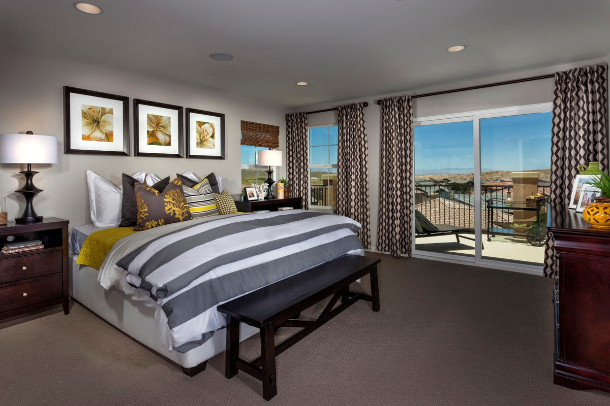 New Homes in Palmdale, CA - Crestview at Anaverde Residence Four - Master Bedroom