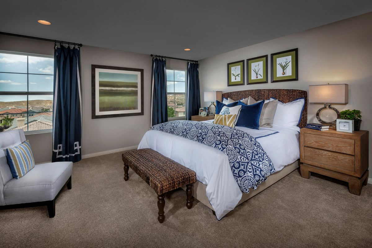 New Homes in Palmdale, CA - Crestview at Anaverde Residence Two - Master Bedroom