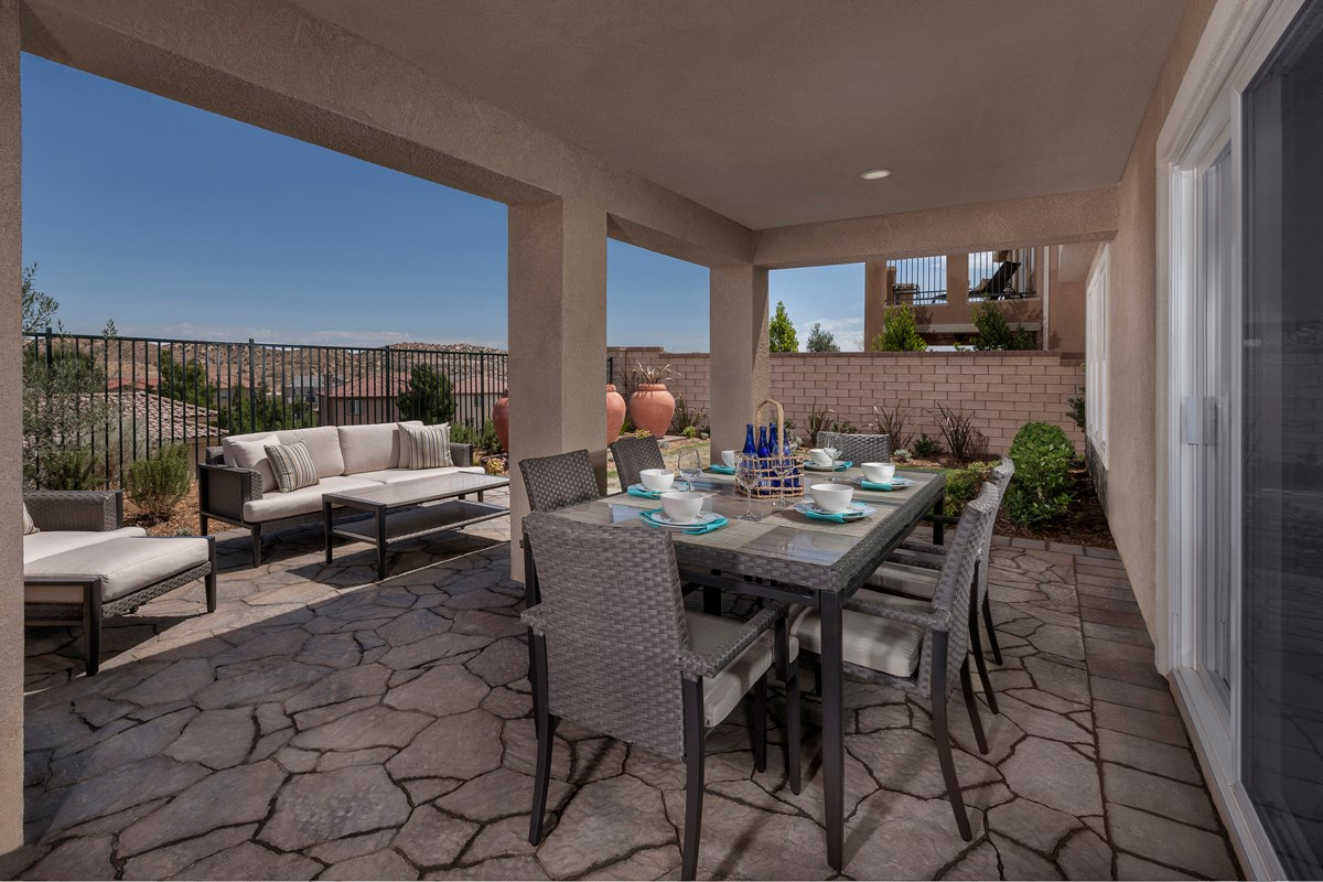 New Homes in Palmdale, CA - Crestview at Anaverde Residence Two - Patio