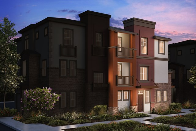 New Homes in San Jose , CA - 3-Plex Elevation A
