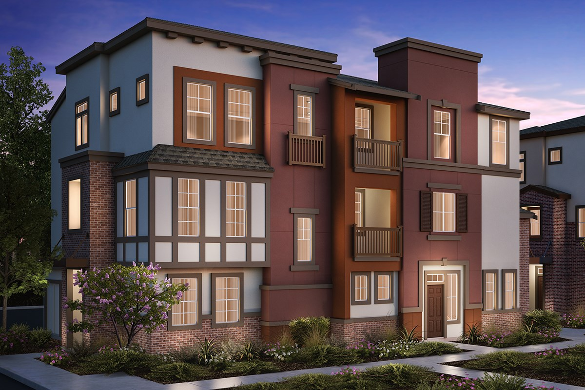 New Homes in San Jose , CA - Apex at Berryessa Crossing 3-Plex Elevation B