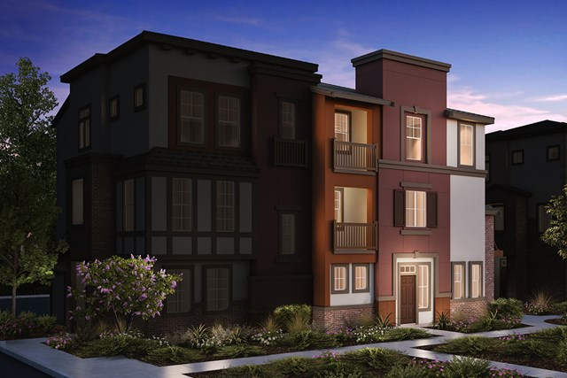 New Homes in San Jose , CA - 3-Plex Elevation B
