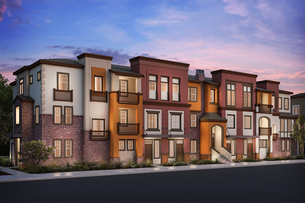 New Homes in San Jose , CA - Apex at Berryessa Crossing 7-Plex Elevation A