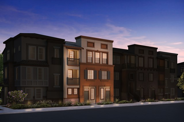 New Homes in San Jose , CA - 7-Plex Elevation B (Reverse)