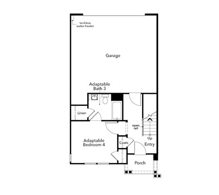 New Homes in Novato, CA - Plan 2032, First Floor