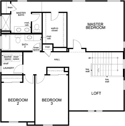 New Homes in Woodland, CA - Plan 2137, Second Floor