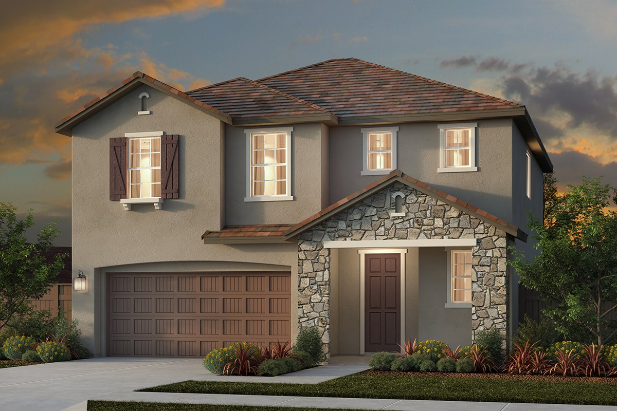 New Homes in Woodland, CA - Bradford at Spring Lake Plan 1 - French Country