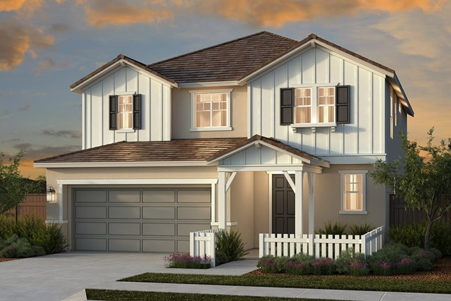 New Homes in Woodland, CA - Plan 4 - Farmhouse Elevation