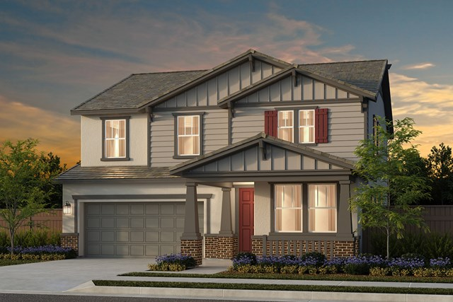 New Homes in Woodland, CA - Plan 4 - Craftsman Elevation