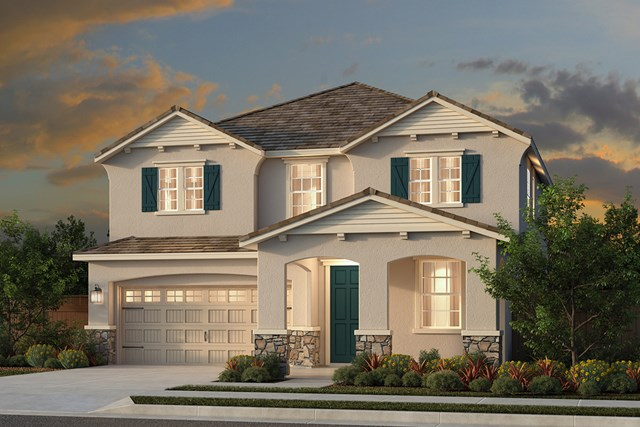 New Homes in Woodland, CA - Plan 4 - French Country Elevation