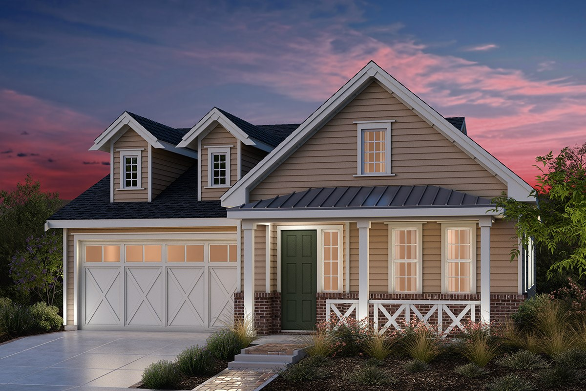 New Homes in Fremont, CA - Bridgepoint at Patterson Ranch Plan 1 Farmhouse Elevation