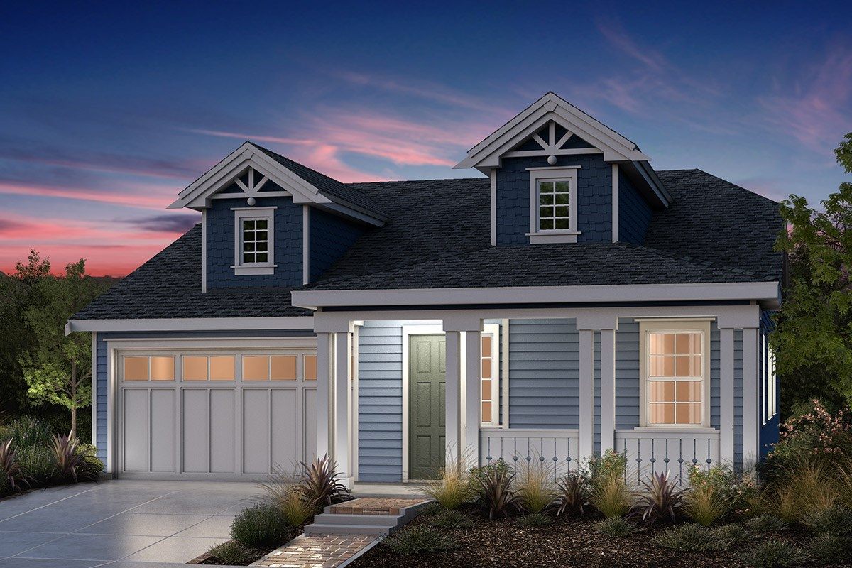 New Homes in Fremont, CA - Bridgepoint at Patterson Ranch Plan 1 Victorian Elevation