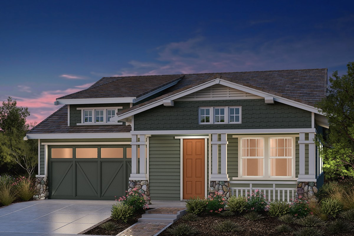 New Homes in Fremont, CA - Bridgepoint at Patterson Ranch Plan 1 Craftsman