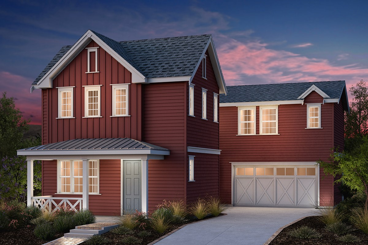 New Homes in Fremont, CA - Bridgepoint at Patterson Ranch Plan 2 Farmhouse