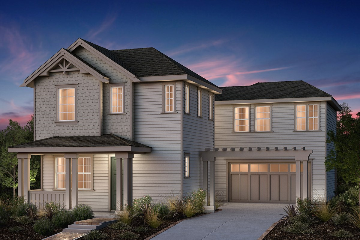 New Homes in Fremont, CA - Bridgepoint at Patterson Ranch Plan 2 Victorian Elevation
