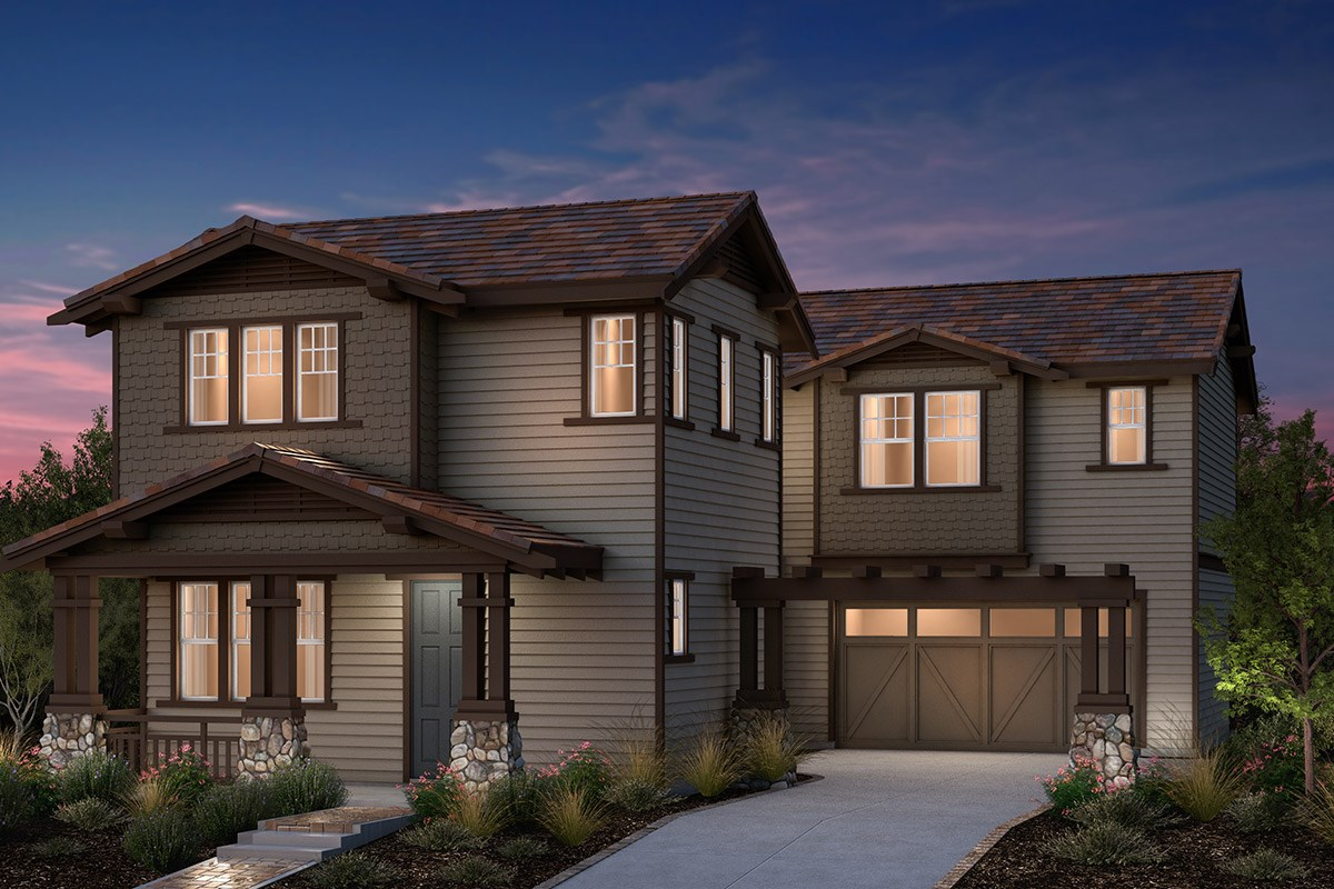 New Homes in Fremont, CA - Bridgepoint at Patterson Ranch Plan 2 Craftsman Elevation