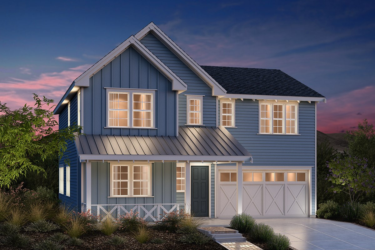 New Homes in Fremont, CA - Bridgepoint at Patterson Ranch Plan 3 Farmhouse