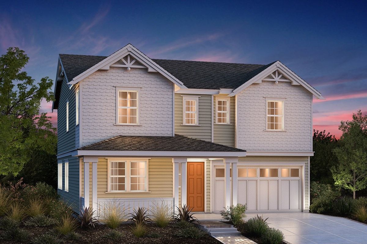 New Homes in Fremont, CA - Bridgepoint at Patterson Ranch Plan 3 Victorian Elevation