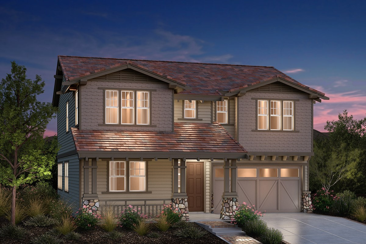 New Homes in Fremont, CA - Bridgepoint at Patterson Ranch Plan 3 Craftsman Elevation