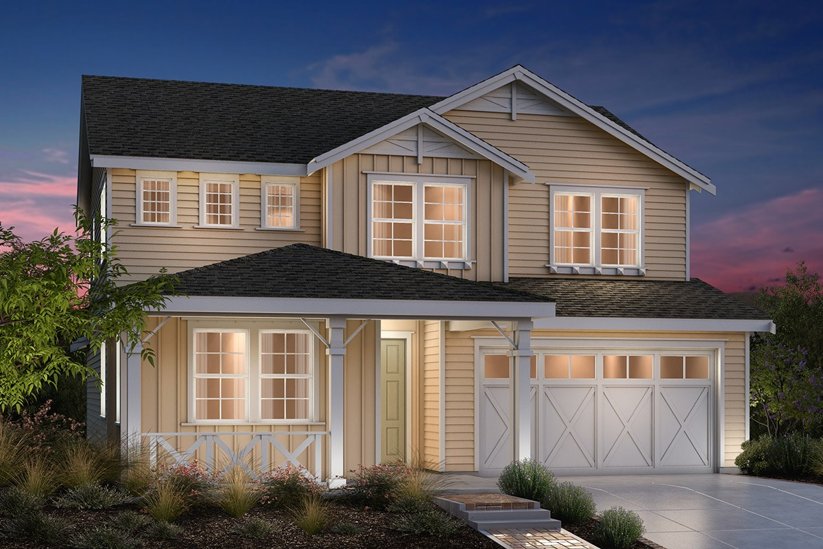 New Homes in Fremont, CA - Bridgepoint at Patterson Ranch Plan 4 Farmhouse Elevation