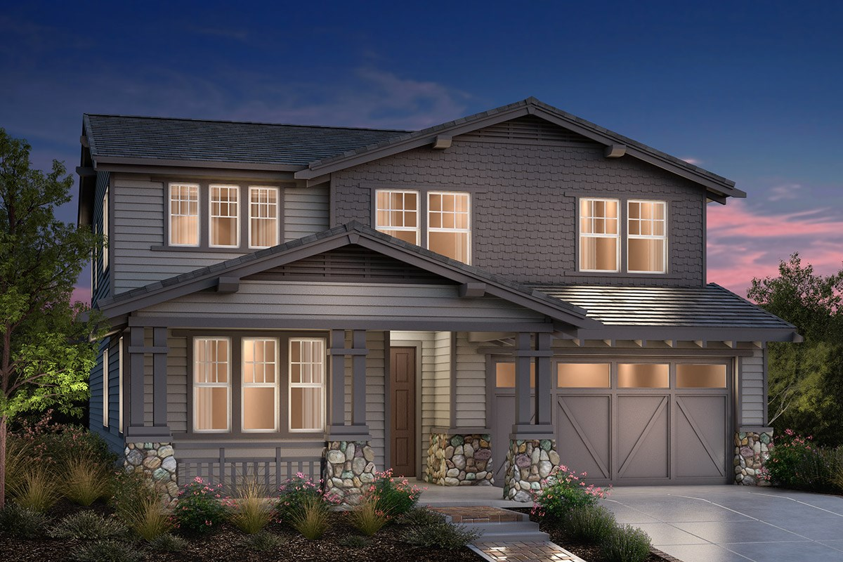 New Homes in Fremont, CA - Bridgepoint at Patterson Ranch Plan 4 Craftsman Elevation