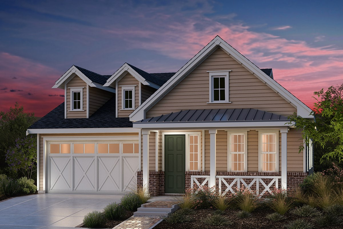 New Homes in Fremont, CA - Bridgepoint at Patterson Ranch Plan 1 Farmhouse