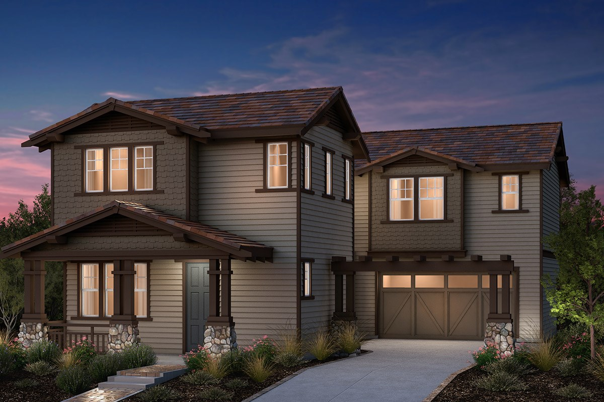 New Homes in Fremont, CA - Bridgepoint at Patterson Ranch Plan 2 Craftsman