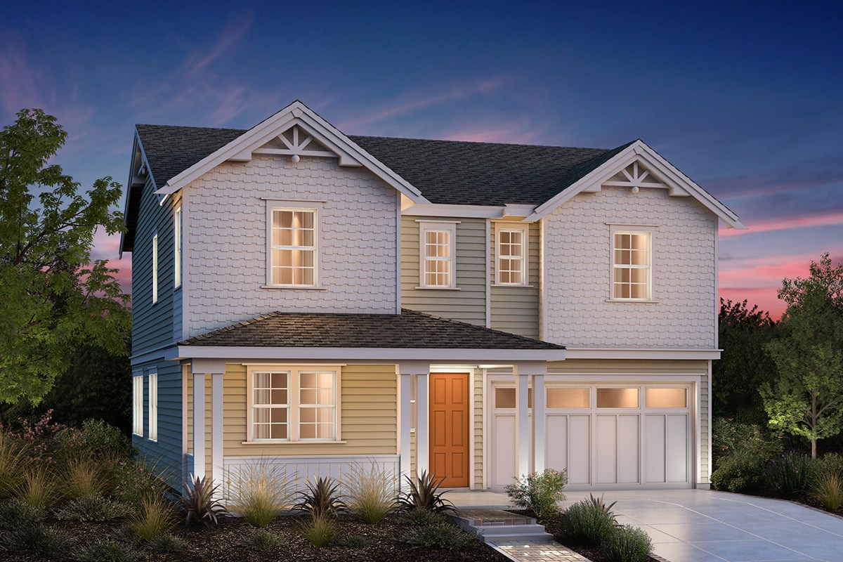 New Homes in Fremont, CA - Bridgepoint at Patterson Ranch Plan 3 Victorian
