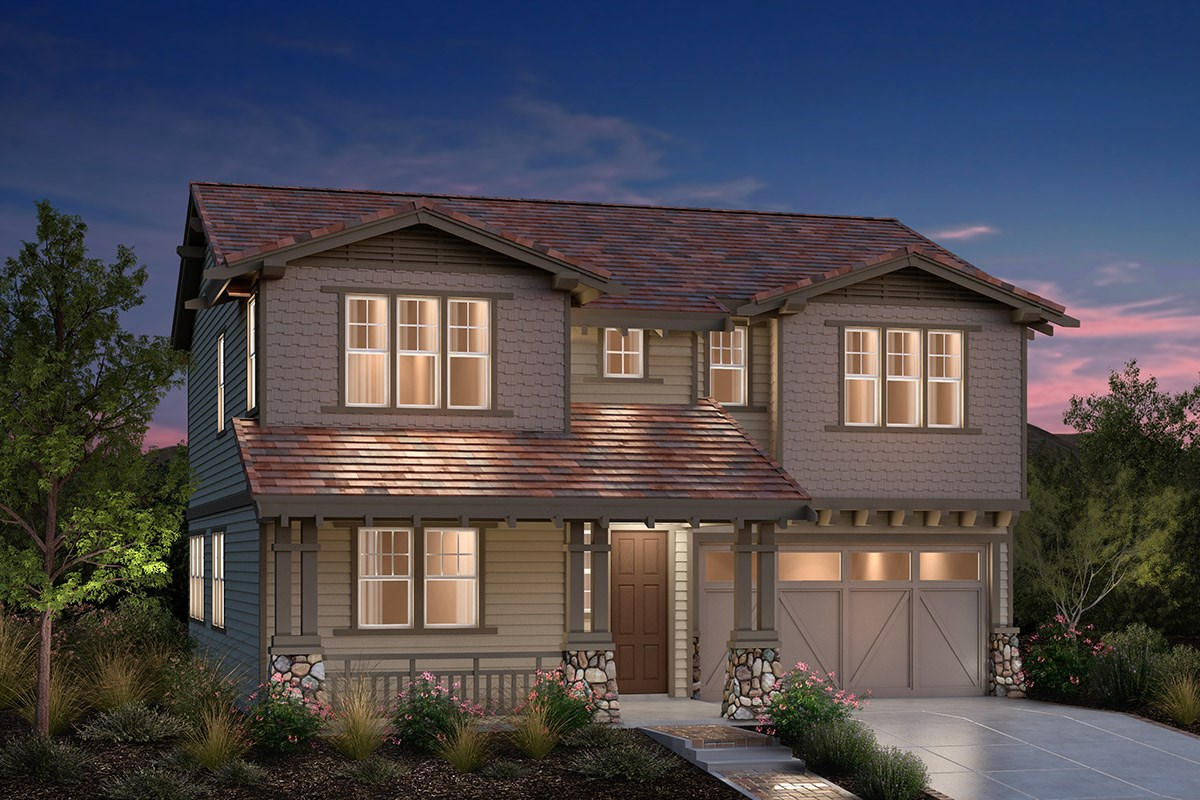 New Homes in Fremont, CA - Bridgepoint at Patterson Ranch Plan 3 Craftsman