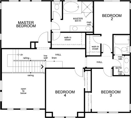 Plan 4 Modeled New Home Floor Plan In Bridgepoint At Patterson - Floor Plans For New Homes