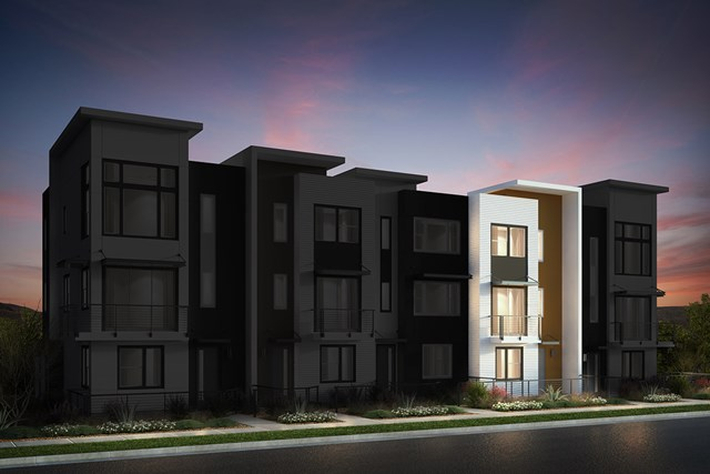 New Homes in San Jose, CA - Contemporary A: 5Plex