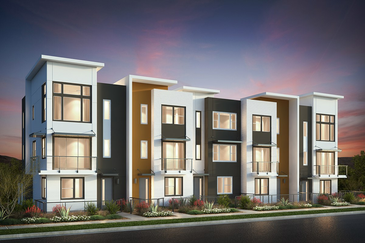 New Homes in San Jose, CA - Catalyst at Communications Hill Contemporary 'A': 5Plex