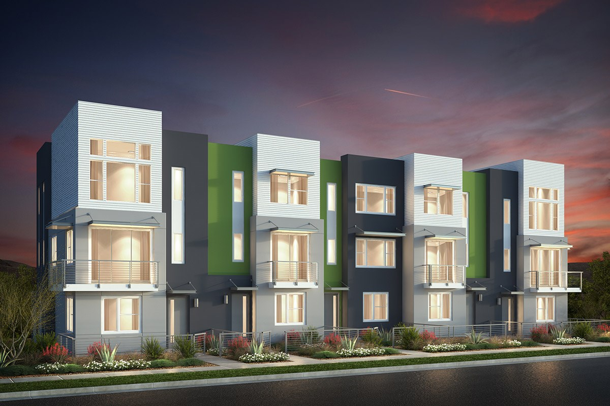 New Homes in San Jose, CA - Catalyst at Communications Hill Contemporary 'B': 5Plex