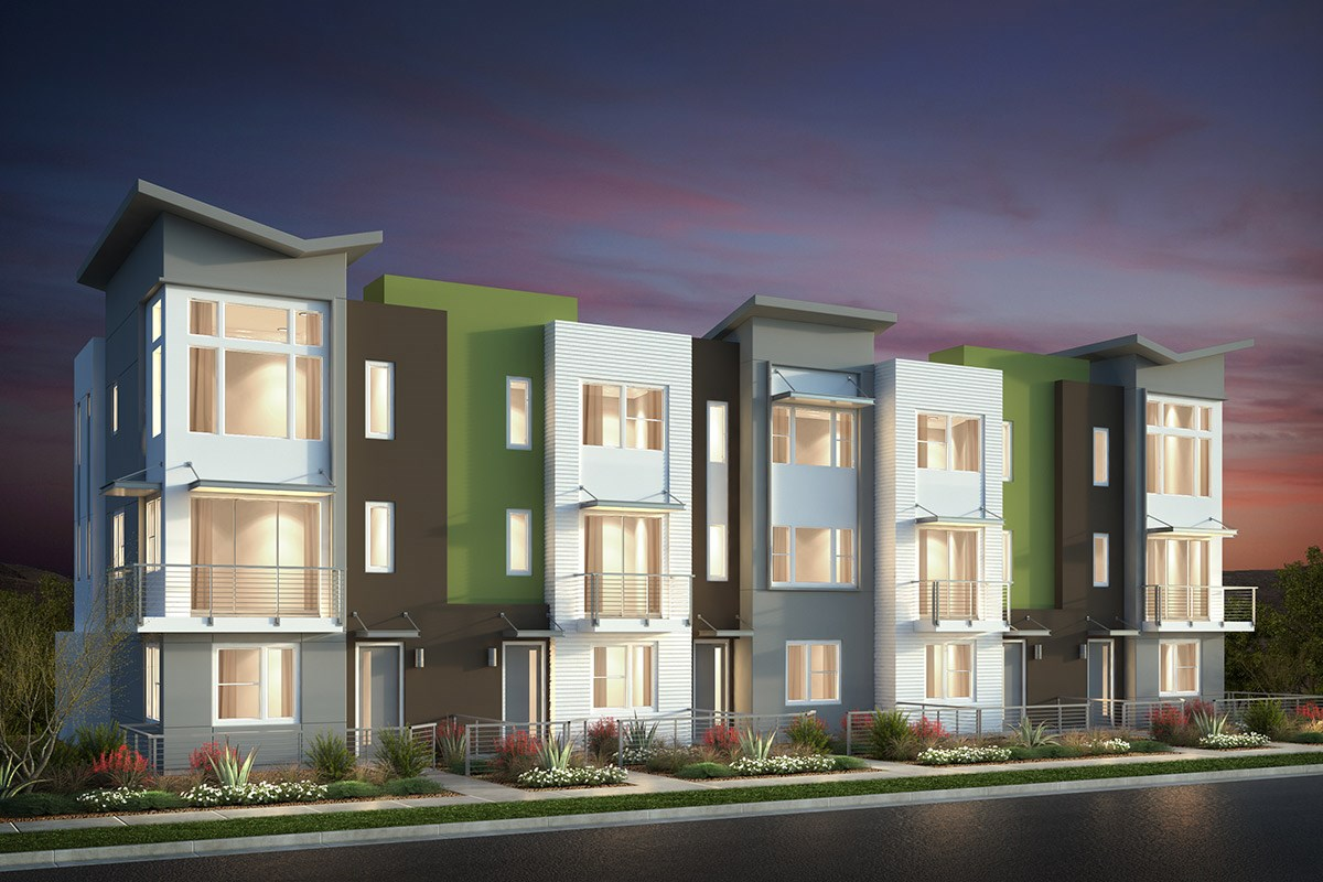 New Homes in San Jose, CA - Catalyst at Communications Hill Contemporary 'C': 5Plex