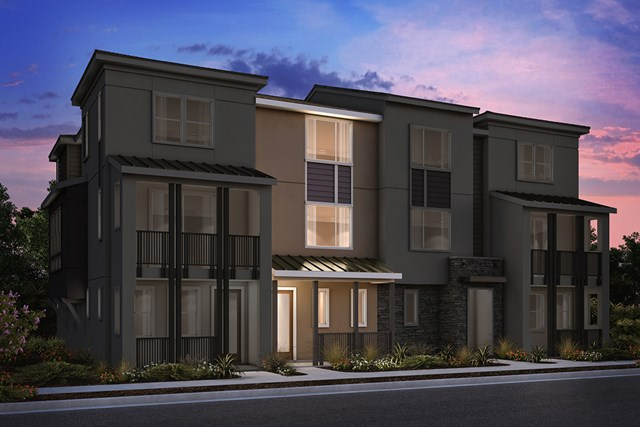 New Homes in Milpitas , CA - 4-Plex Elevation A
