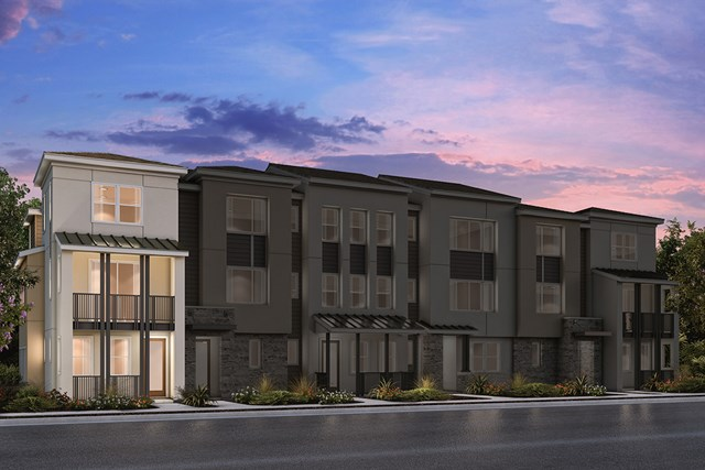 New Homes in Milpitas , CA - 6-Plex Elevation A