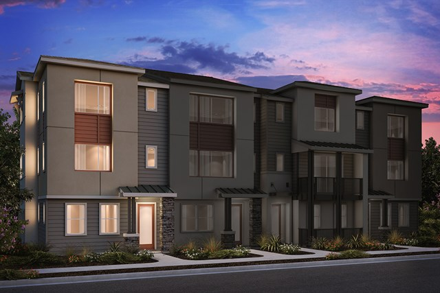 New Homes in Milpitas, CA - 4-Plex Elevation A (Reverse)
