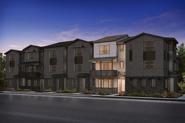 New Homes in Milpitas , CA - 6-Plex Elevation B (Reverse)