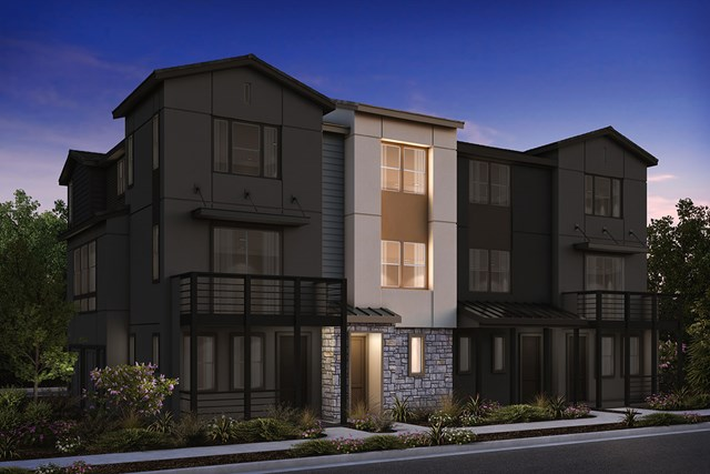 New Homes in Milpitas , CA - 4-Plex Elevation B