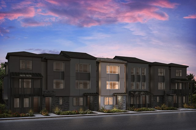 New Homes in Milpitas , CA - 7-Plex Elevation A (Reverse)