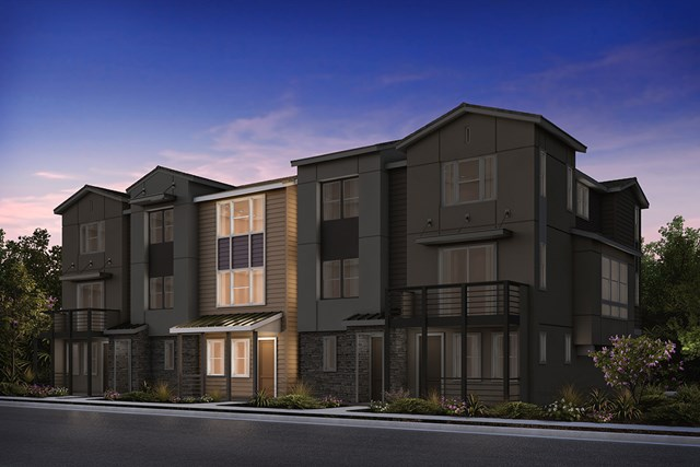 New Homes in Milpitas , CA - 5-Plex Elevation B