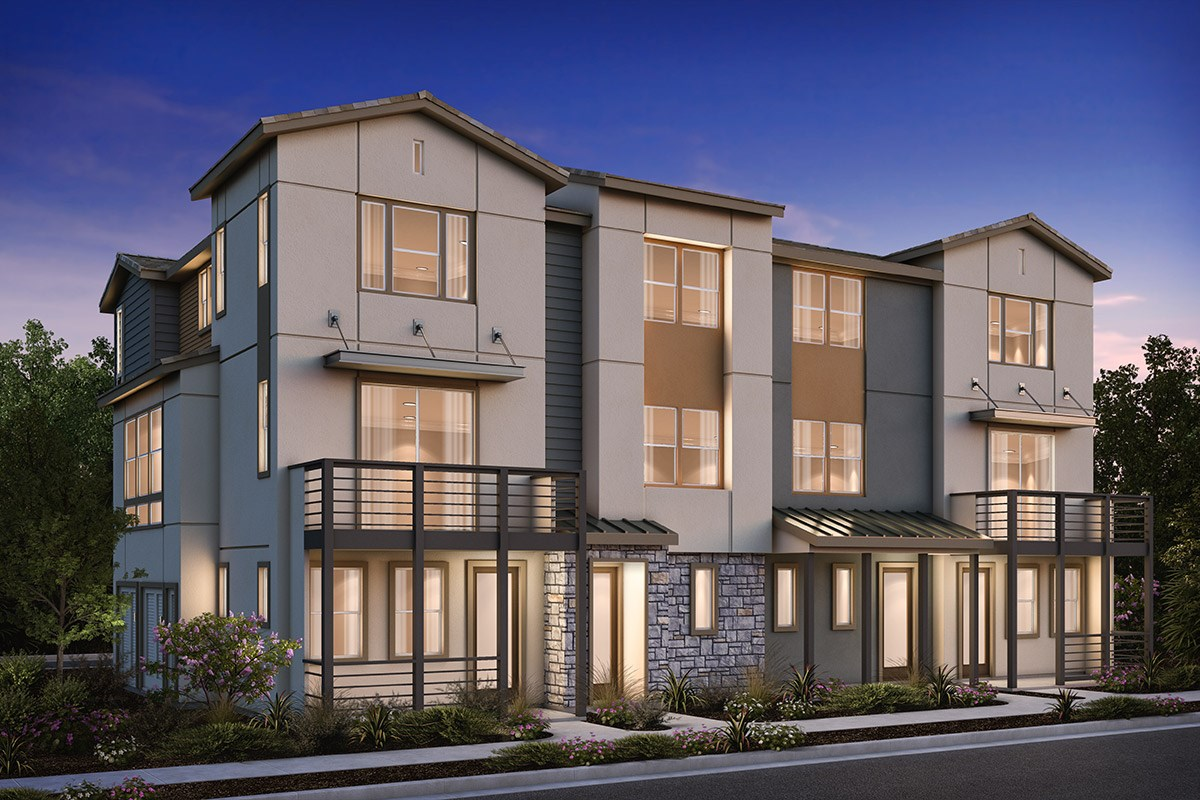 New Homes in Milpitas , CA - Circuit 4-Plex Building 1B