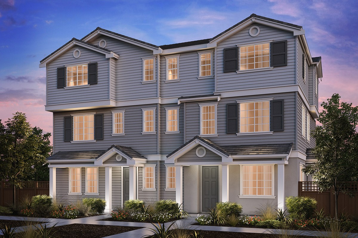 New Homes in Hayward, CA - Compass  Plan 2/3 Duet Cape Cod